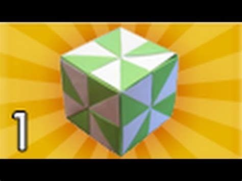 How To Fold An Origami Cube - origami pinwheel cube folding part 1