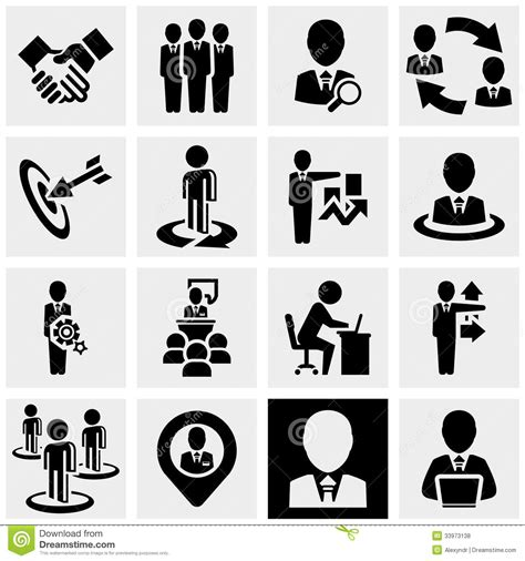 Vector Business Icons Set Royalty Free Stock Photos Image 1095468 Business Vector Icons Set On Gray Stock Vector Image 33973138