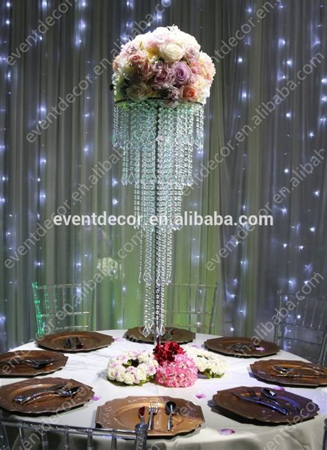 wholesale 5 tiers crystal centerpieces for wedding table