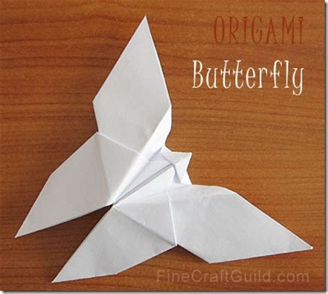Origami Paper Butterfly - how to make an origami butterfly