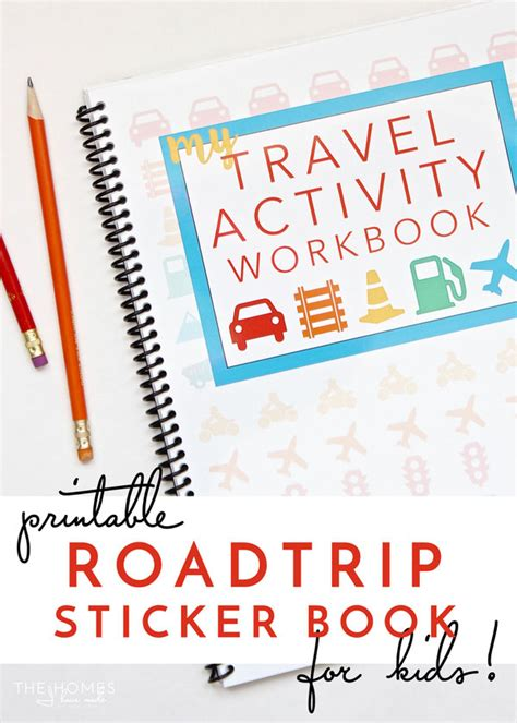traveling high and tripping books printable road trip activity and sticker book the homes