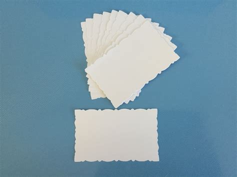 deckenle rund fancy deckle edged die cut rectangles white x 10