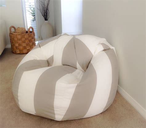 white bean bag cover bean bag coastal ecru and white stripes bean bag cover cabana