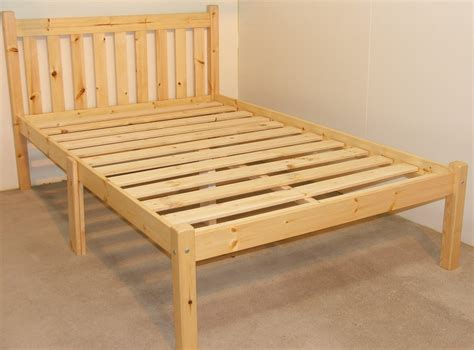 Solid Pine Bed Frame Zues 4ft 6 Heavy Duty Solid Pine Bed Frame