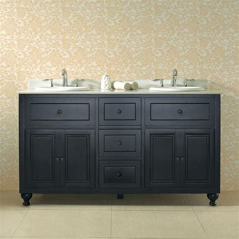 Black Antique Vanity by Ove Decors Kensington 60 In W X 21 In D Vanity In