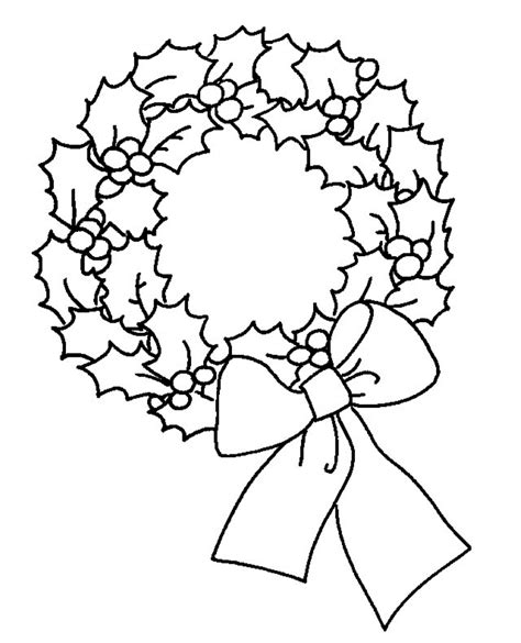 Christmas Wreath Coloring Page Coloring Home Free Coloring Pages Wreath