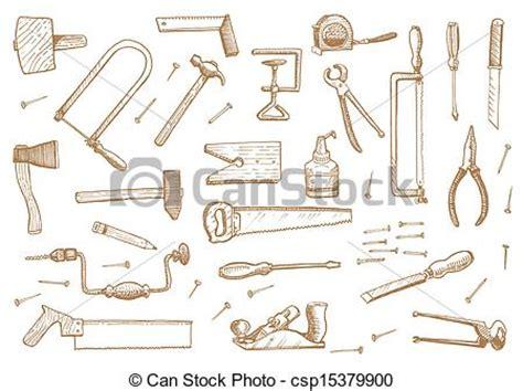 Designer Kitchen Utensils vector clipart of vintage set of tools stock vector