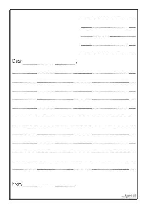 Formal Letter Template For Kids Letters Font Letter Template With Lines