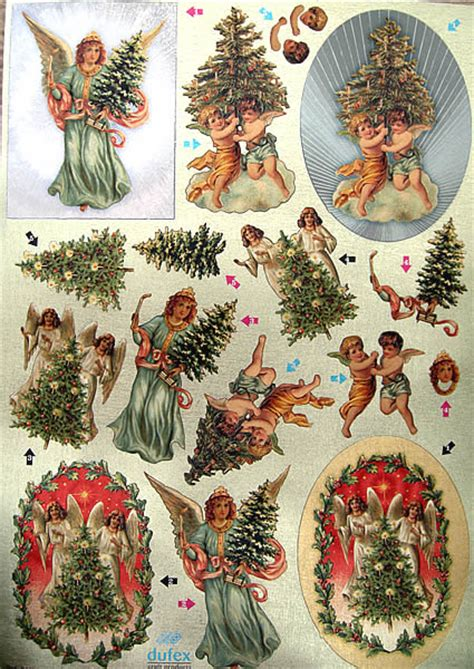 Decoupage Sheets Uk - die cut dufex decoupage sheet vintage
