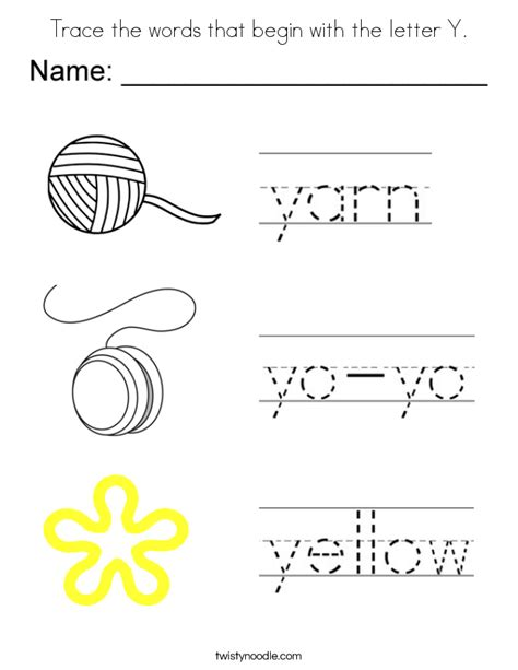 Words Letter Y printable abc coloring pages coloring page letter y