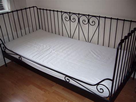 ikea black metal bed frame ikea meldal black ornate metal single day bed with