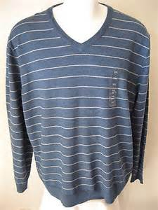 Connected Care Platinum Montana Health Co Op Mens Wool Sweater Club Room Light Blue Stripe Acrylic