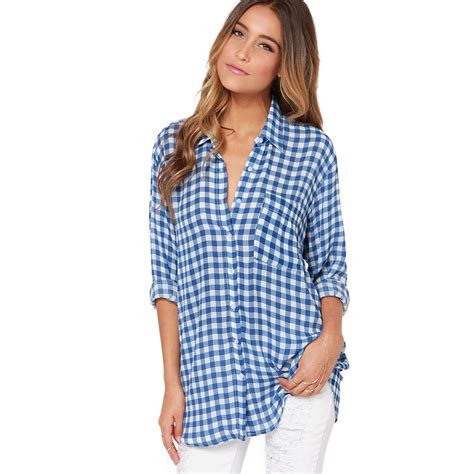 fashion union fashion union shoulder shirt simple accessories plaid shirt ladieswear big size blouses and
