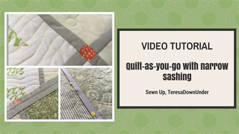 quilt as you go with narrow sashing