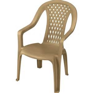 Plastic Patio Chairs Walmart Us Leisure Montego High Back Chair Dune Walmart
