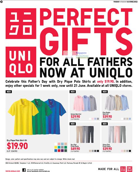 Uniqlo Gift Card - uniqlo father s day gift ideas promotion offers 15 21 jun 2012