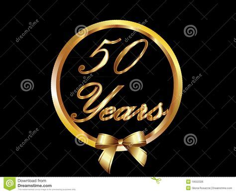 50 Years Vector Royalty Free Stock Image   Image: 19502326
