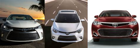 Toyota Corolla Vs Toyota Camry 2015 Toyota Camry Vs 2015 Toyota Corolla Vs 2015 Toyota Avalon