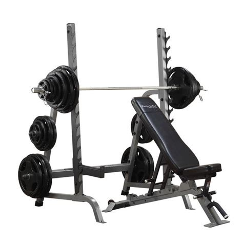 benching in the squat rack commercial bench squat rack combo package body solid