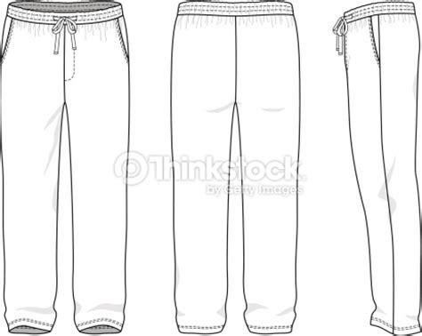 Blank Mens Sweatpants Vector Art Thinkstock Sweatpants Template Vector
