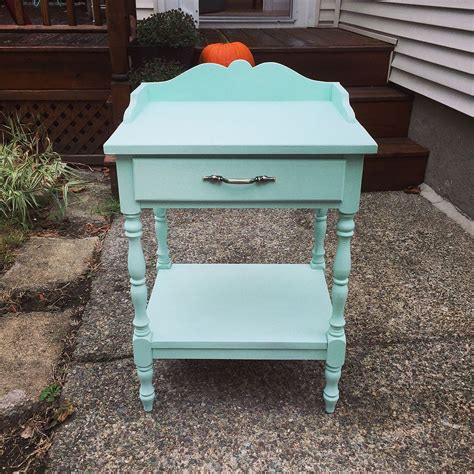 this end up dresser makeover hometalk mint painted end table makeover