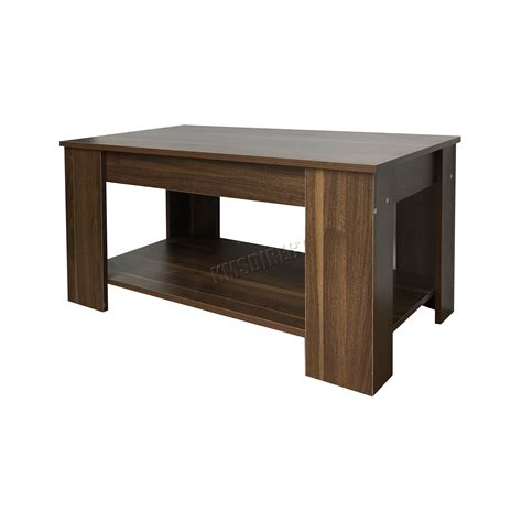 lift up top coffee table foxhunter lift up top coffee table mdf with storage and