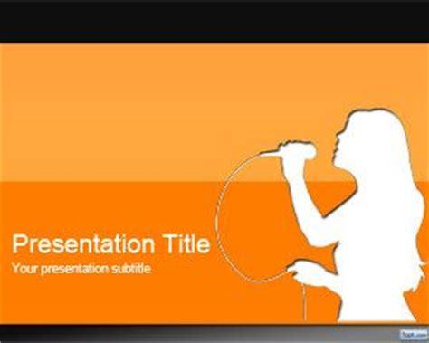 template powerpoint karaoke orange karaoke powerpoint template free powerpoint templates