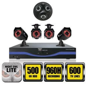 owl 8 channel 960h surveillance system with 500gb