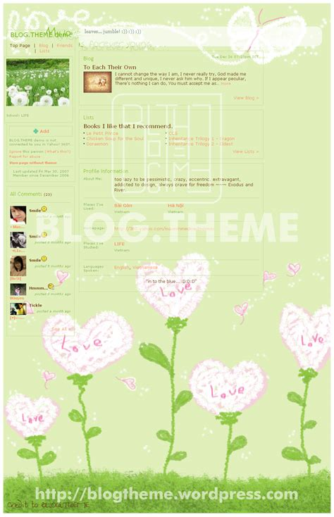theme blog love blog theme love with hearts 4 by exrioverdus on deviantart