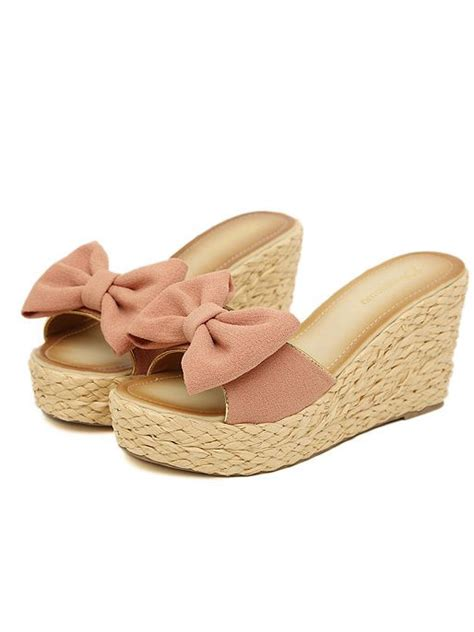 cloth slippers bohemian style sole bowknot cloth slipper