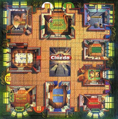 Clue Mansion Floor Plan by