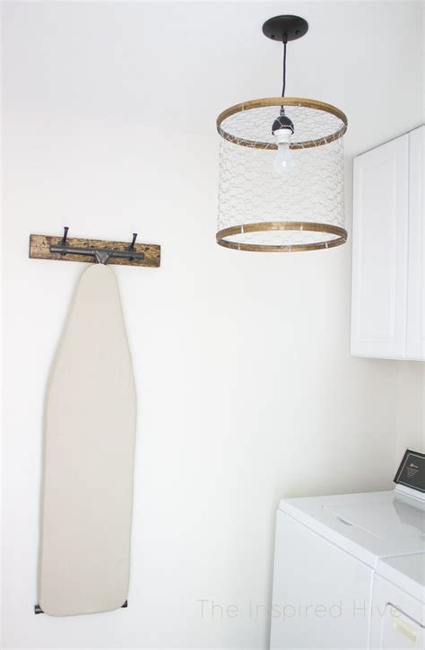 laundry room light diy chicken wire light fixture the inspired hive