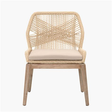Woven Chairs Dining Set Of Two Luca Sand Woven Dining Chairs Dear Keaton