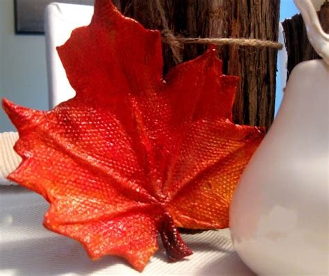 Paper Mache Crafts For Adults - paper mache leaves crafts to try