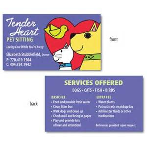 sitting business cards 37 best images about pet sitting business cards on