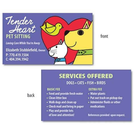 pet sitting business card templates 37 best images about pet sitting business cards on