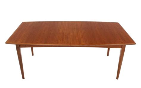 Pop Up Dining Table Large Mid Century Modern Teak Dining Table With Two Pop Up Leafs At 1stdibs