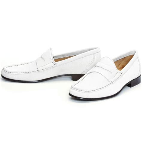 all white loafers donald pliner naper suede loafers white