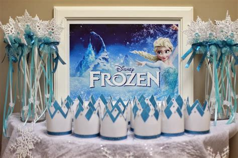 frozen decorations ideas frozen themed birthday via kara s ideas cake