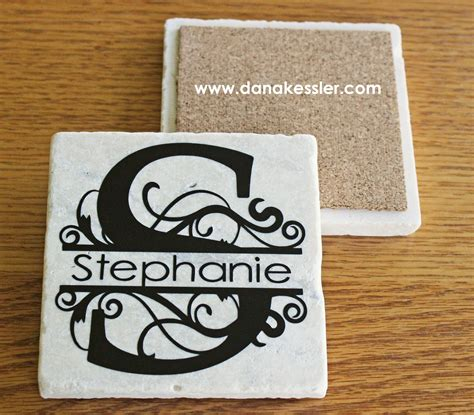 cricut printable vinyl projects personalized coaster tiles with cricut explore
