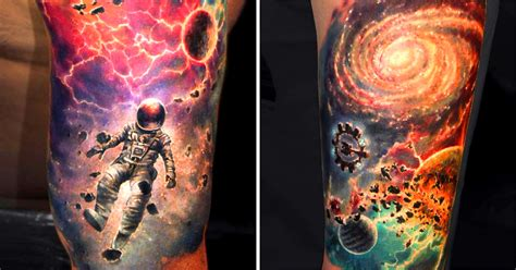 infinity universe tattoo infinite galaxies the space tattoos of ben klishevskiy