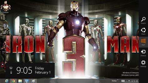 theme windows 8 1 iron man iron man 3 theme for windows 8 ouo themes