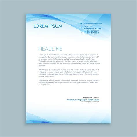 business card and letterhead vector business wave letterhead template vector design