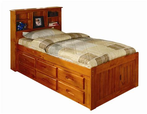 Discovery World Furniture Honey Twin Captain Beds ? KFS STORES