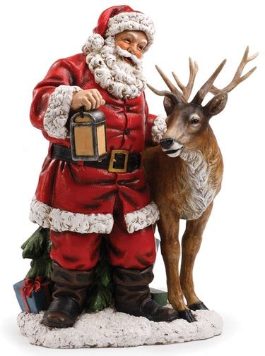 reindeer statue santa with reindeer statue only 495 00 at garden
