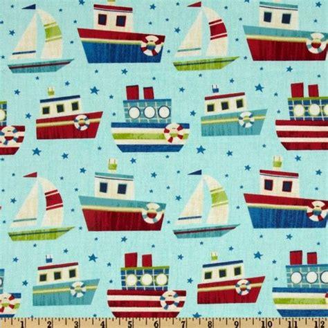 Sailboat Quilt Fabric 1 2 yard quilt fabric ship ahoy sailboat boy quilt fabric