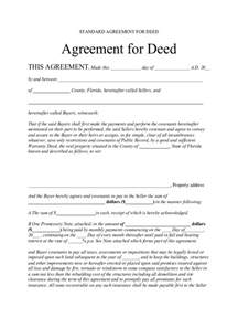 Free Contract For Deed Template by Contract For Deed Form 5 Free Templates In Pdf Word