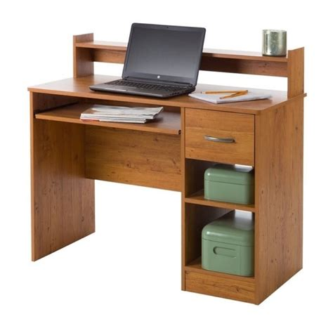 south shore office furniture south shore axess computer desk in country pine 10133