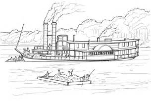 steam boat drawings steamboat yellowstone stuff coloring page