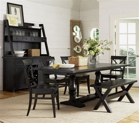 farmhouse dining set with bench dining room awesome 2017 country style dining room sets